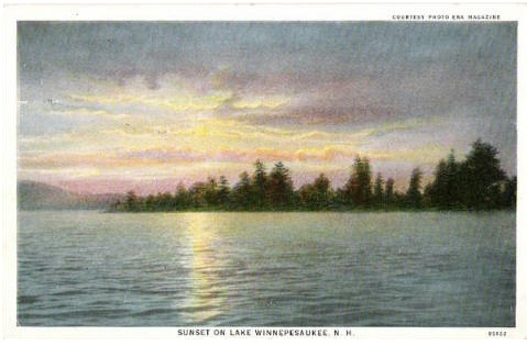 Postcard from 1934 showing Lake Winnepesaukee